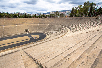 Panathenaic stadium or kallimarmaro in Athens, Greece