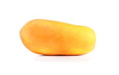 fresh yellow papaya isolated on white