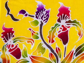 Batik style fabric
