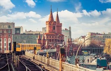 Berlin Friedrichshain-Kreuzberg Oberbaumbrücke