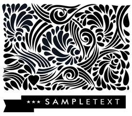 calligraphic floral design elements.