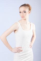 girl hair health up beauty brunette salon care glamour stroking