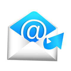 3D Email Sent Item Icon