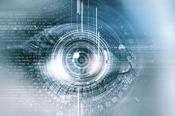 Eye identification Wall mural