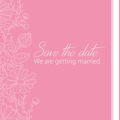 Hochzeitskarte - Save the date