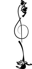 Tatuaggio chiace musicale stilizzata