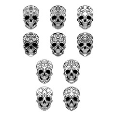 Day of the dead skull collection