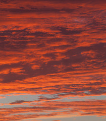 dramatic red sky