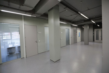 The design of office and industrial premises in strict shades of gray