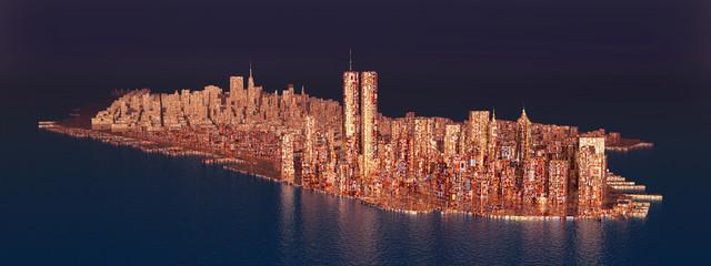 Island Manhattan in the 1990s