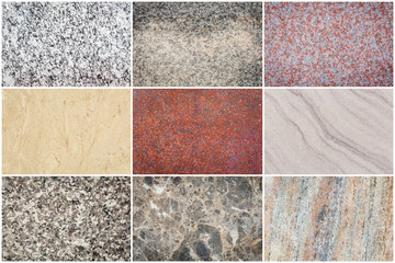 Set of natural stone texture and background