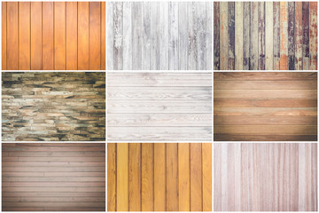 Set of pattern wood texture