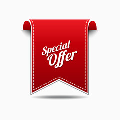 Special Offer Red Vector Icon Design