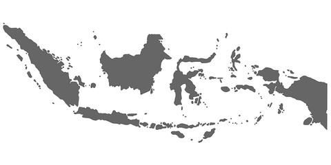 Indonesien in Grau