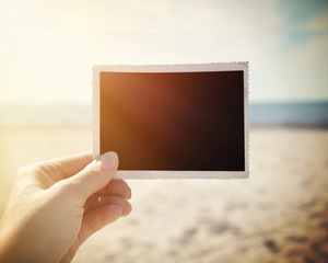 Blank Picture Photo Memory at Sunny Beach