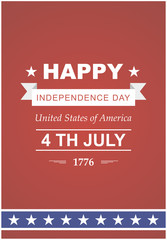 Bright vector to the Independence Day.