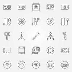 Action Camera icons set