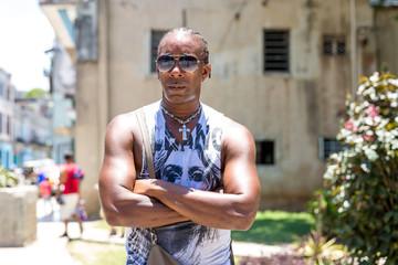 Portrait of a Cuban man in Havana, Cuba