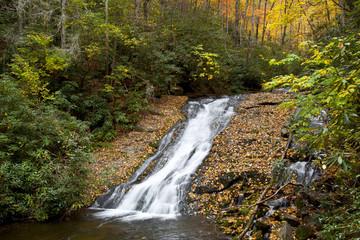 Indian Creek Falls in the Deep Creek Area near Bryson City, NC