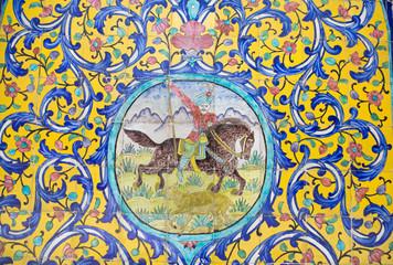 Azulejo persa en el Palacio de Golestán, Iran.