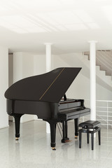 hall with grand piano