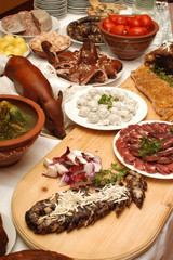 Smoked pig, ham, sausage and other meals