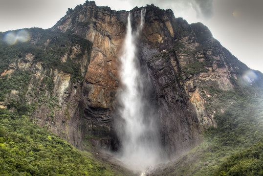 Angel's Falls at the national park of Canaima in Venezuela