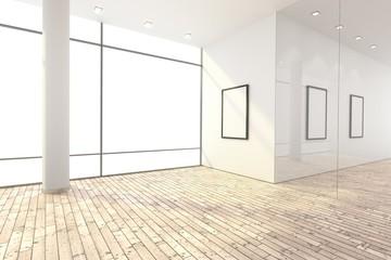 Leerer Raum mit Spots ohne Hintergrund