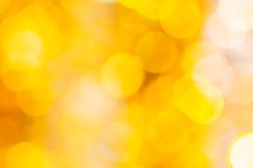 Christmas orange and yellow bokeh