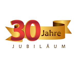 30 Jahre Jubiläum