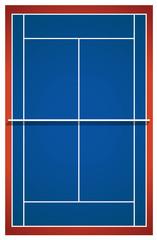 Blue badminton court layout