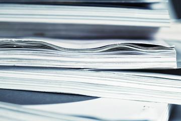 large pile of magazine