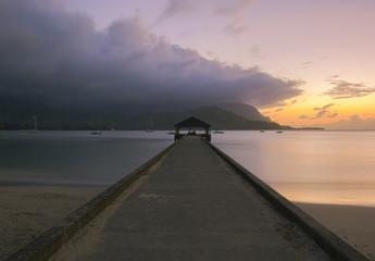 Sunset at Hanalei Pier