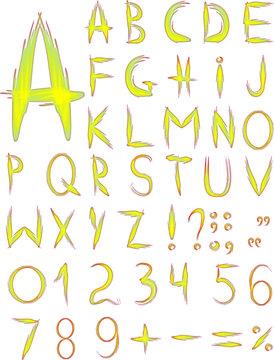 Original yellow font