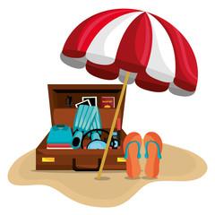 Summer vacations design.