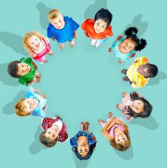 Children Kids Diversity Childhood Friends Concept