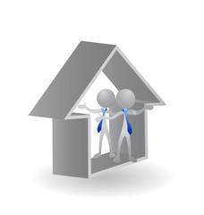 House Real Estate logo 3D vector