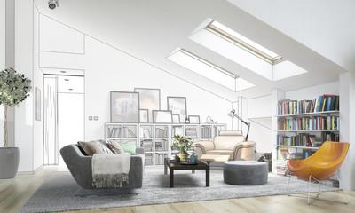 Dachgeschoss-Ausbau (Planung)