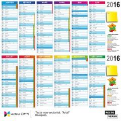 Calendrier 2016 nouvelles zones scolaires
