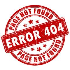 Error 404 stamp