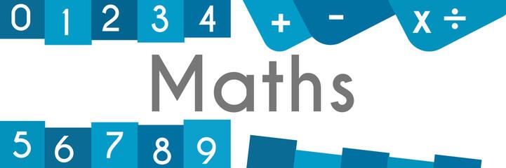 Maths Blue Abstract Shape