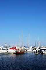 Yacht marina in yokohama, Japan