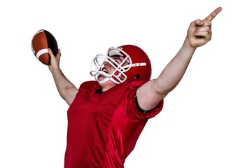 A triumph of an american football player