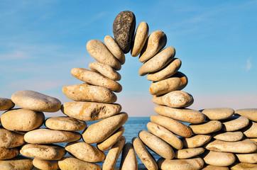 Compound of pebbles