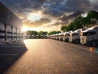Truck parking. Freight
