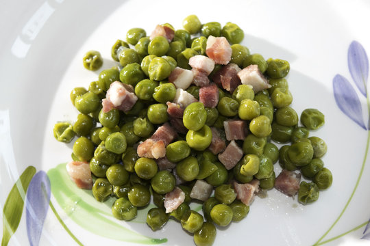 peas and bacon