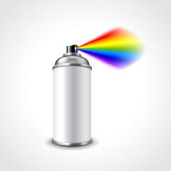 Graffiti spray can vector illustration