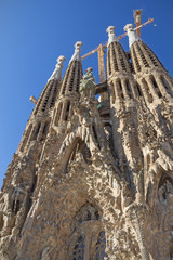Church Sagrada Familia in Barcelona (Catalunya, Spain)