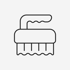 Toilet plunger and brush line icon