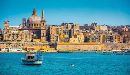 View of Marsamxett Harbour and Valletta